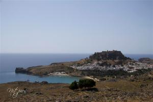 Lindos from afar