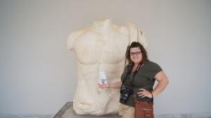 Touching Zeus' Temple ;)