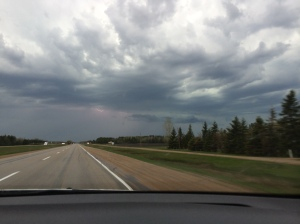 Flat and nothing in Manitoba, oh and lightning