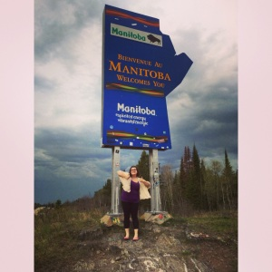 Made it to Manitoba before a massive torrential downpour