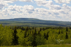The view of Whitecourt Mountain from 8-mile hill. Whitecourt lies north of this mountain