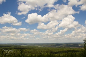 Coal Mine Hill Lookout over Whitecourt and the Athabasca