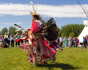 Traditional Dancer at Rotary Park for National Aboriginal Day